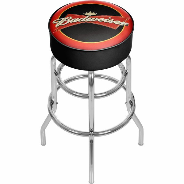 Budweiser 31 Swivel Bar Stool by Trademark Global