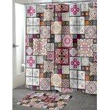 Chrisman Patchwork Single Tile Shower Curtain by Bungalow Rose