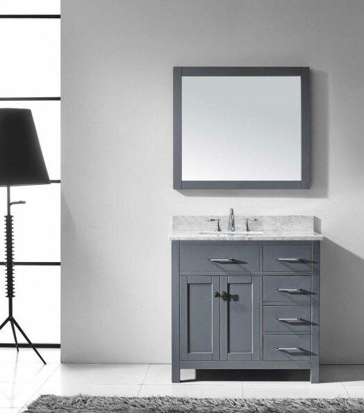 Savitsky 36 Single Bathroom Vanity Set with Mirror by Latitude Run