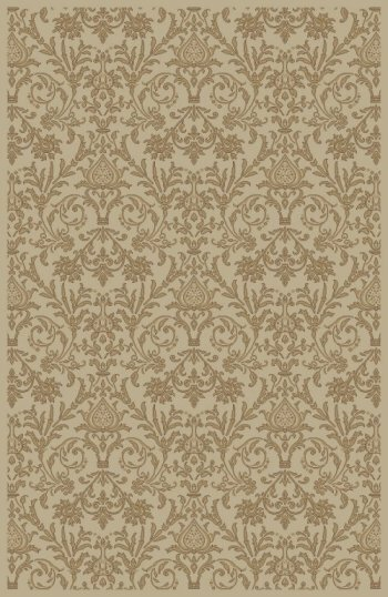 Jewel Damask Ivory Area Rug by Threadbind