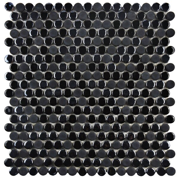 Tucana 0.59 x 0.59 Porcelain Mosaic Tile in Black by EliteTile
