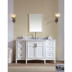 lebanon 60 single bathroom vanity set