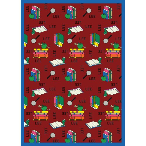 Bookworm Spanish Red Area Rug by The Conestoga Trading Co.