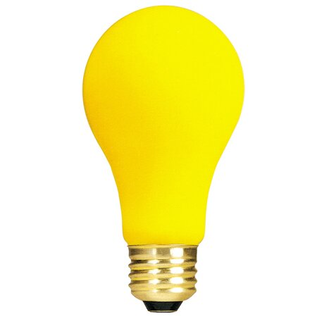 Yellow 130-Volt Incandescent Light Bulb (Set of 18) by Bulbrite Industries