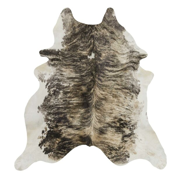 Exotic Brazilian Light Brindle Cowhide Hand-Woven Gray/Tan Area Rug by Rodeo