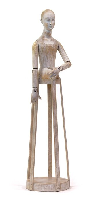 Brown Wood Madame Statue