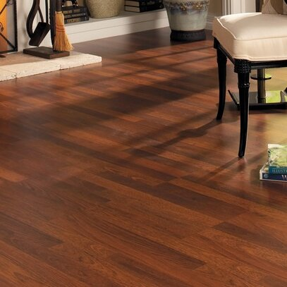 Home Series 8 x 47 x 7mm Cherry Laminate Flooring in Brazilian Cherry by Quick-Step