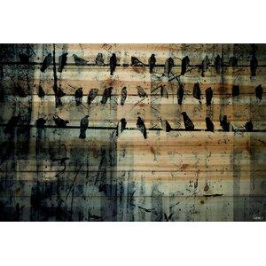 'On The Line' Painting Print on Wood by Parvez Taj