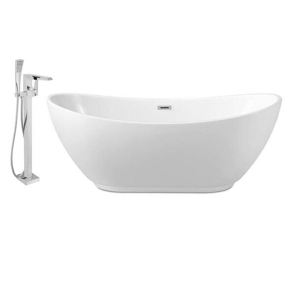 67 x 28 Freestanding Soaking Bathtub by Streamline Bath