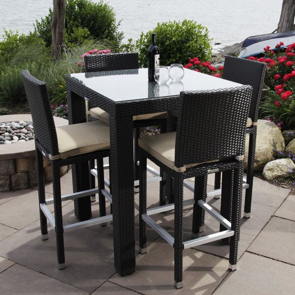 Ibiza 5 Piece Dining Set with Cushions by Madbury Road