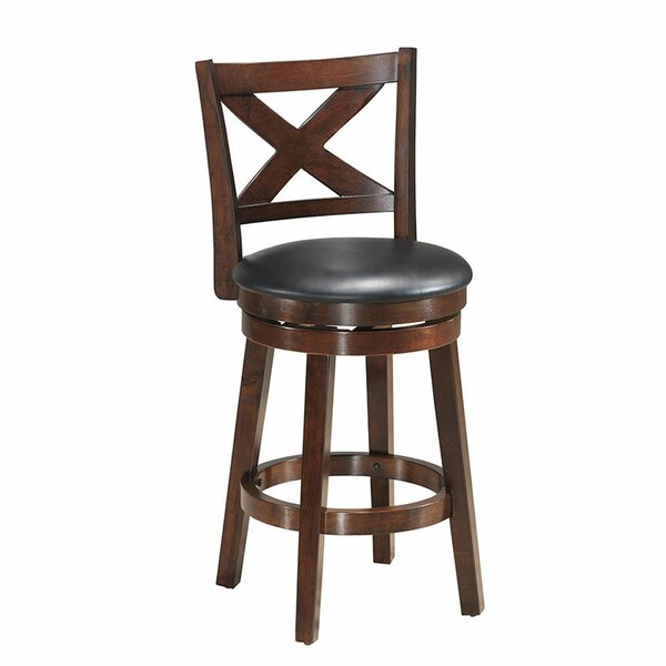 Carmona 24'' Swivel Counter Stool By Alcott Hill