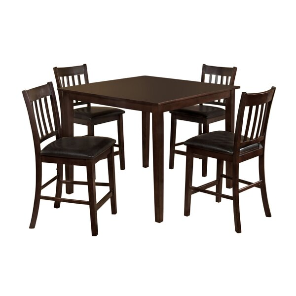 Clarks 5 Piece Counter Height Dining Set by Hokku Designs