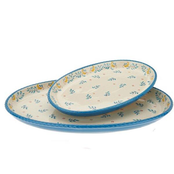 2 Piece Platter Set by Valerie Bertinelli