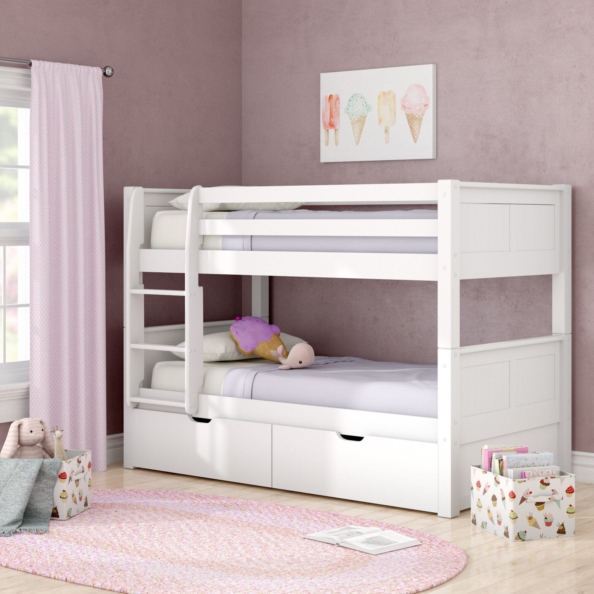 Viv Rae Isabelle Twin Over Twin Bunk Bed With Storage Reviews