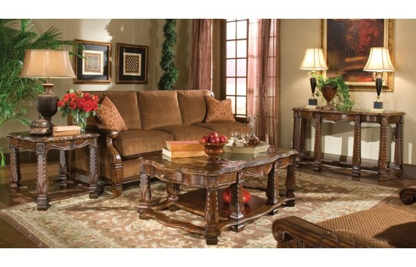 Windsor Court 3 Piece Coffee Table Set by Michael Amini Michael Amini