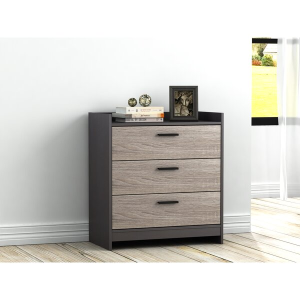 Van Buren 3 Drawer Chest by Ebern Designs