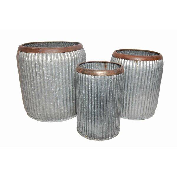 3-Piece Metal Pot Planter Set by BIDKhome