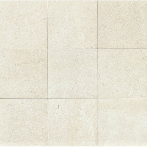 El Dorado 24 x 24 Porcelain Field Tile in Shell Polished by Grayson Martin