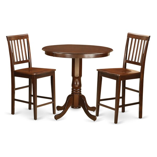 Best #1 Jackson 3 Piece Counter Height Pub Table Set By Wooden Importers New Design