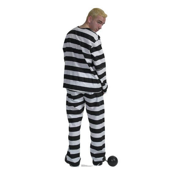 Prisoner in Striped Suit with Ball and Chain Standup by Advanced Graphics