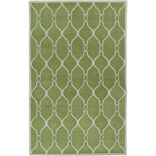 Medora Geometric Green Area Rug by Alcott Hill
