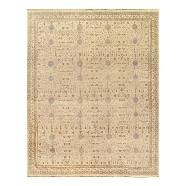 Hublersburg Hand-Knotted Wool Ivory Rug