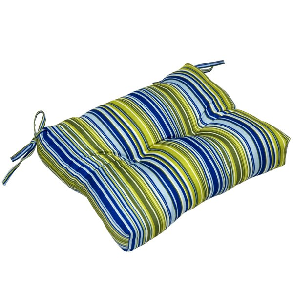 Vivid Stripe Indoor/Outdoor Dining Chair Cushion by Greendale Home Fashions