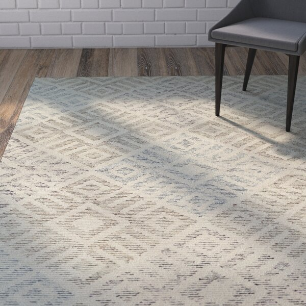 Cilegon Handmade Beige Area Rug by Wrought Studio
