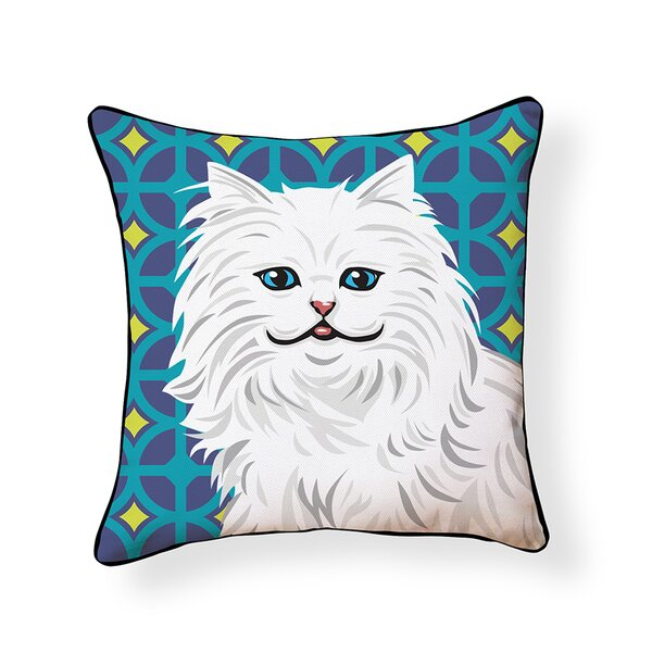 Cat Indoor/Outdoor Throw Pillow by Naked Decor