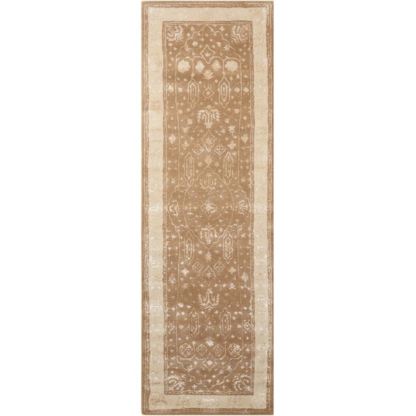 Veda Hand-Tufted Warm Taupe Area Rug by Bloomsbury Market