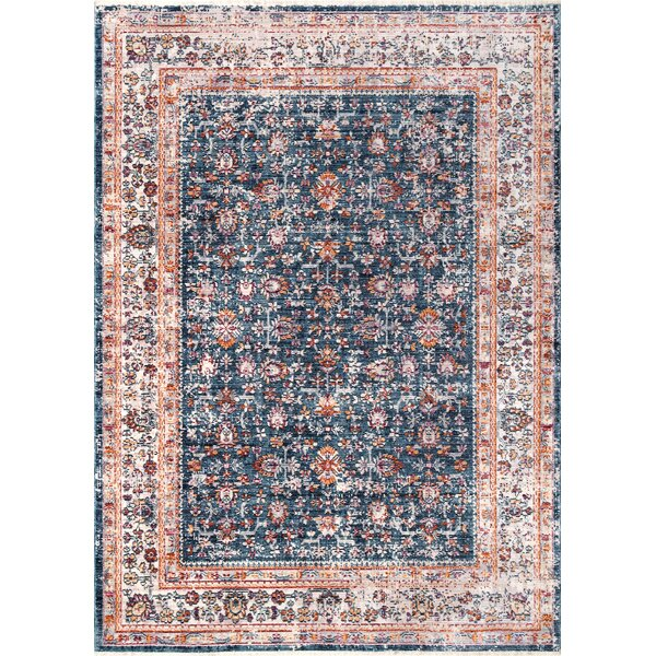 Pensford Navy Blue Area Rug by Bungalow Rose