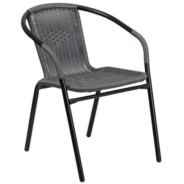Justin Stacking Patio Dining Chair by Three Posts