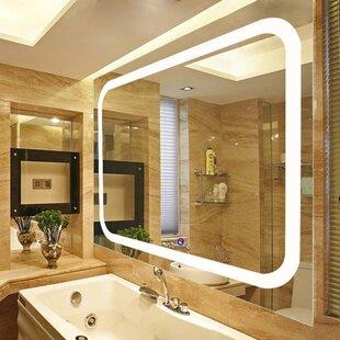 Led lighted vanity wall mirror wayfair led lighted vanity wall mirror aloadofball Choice Image