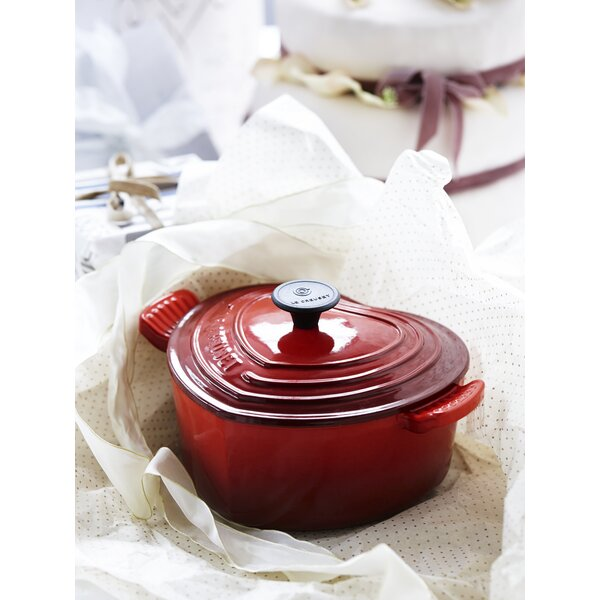 Enameled Cast Iron Heart Dutch Oven by Le Creuset
