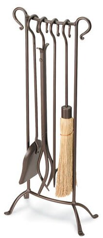 Bowed 5 Piece Fireplace Tool Set by Pilgrim Hearth