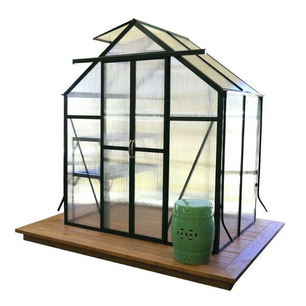 Element Heavy-Duty Aluminum 6 Ft. W x 4 Ft. D Greenhouse with Base by Grandio Greenhouses