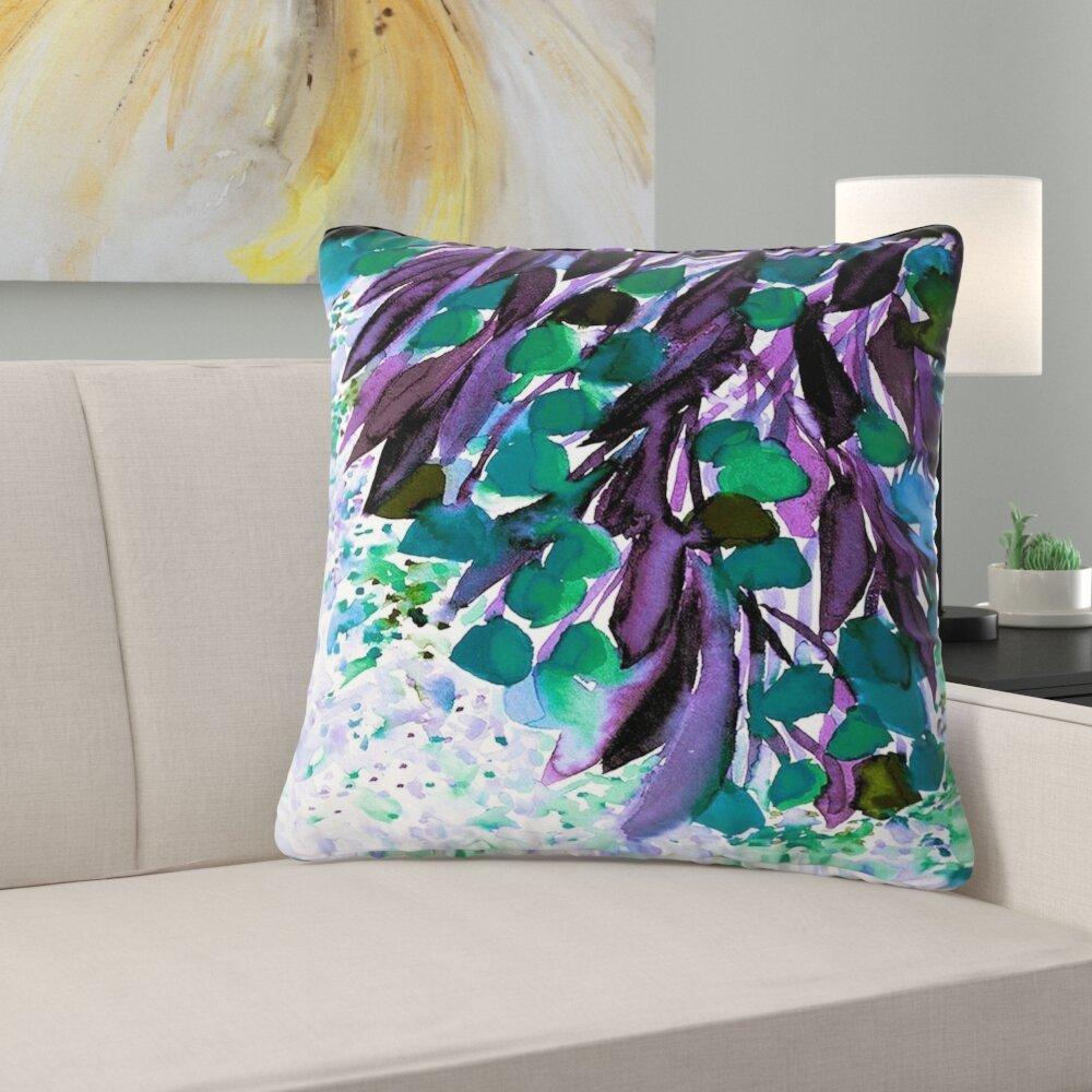 East Urban Home Couch Botanical Regency I Rainbow Throw Pillow Reviews Wayfair