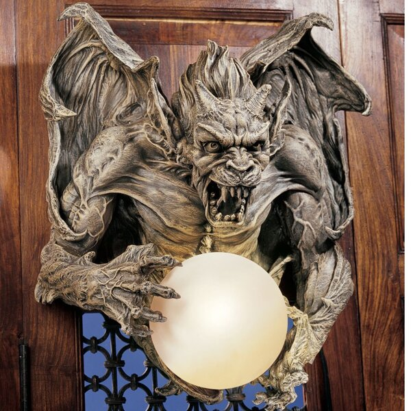 Merciless, the Gargoyle Lighted Wall Décor by Design Toscano