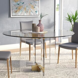 60 Round Glass Dining Table | Wayfair