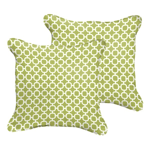 Samantha Geometric Indoor/Outdoor Pillow (Set of 2) by Latitude Run