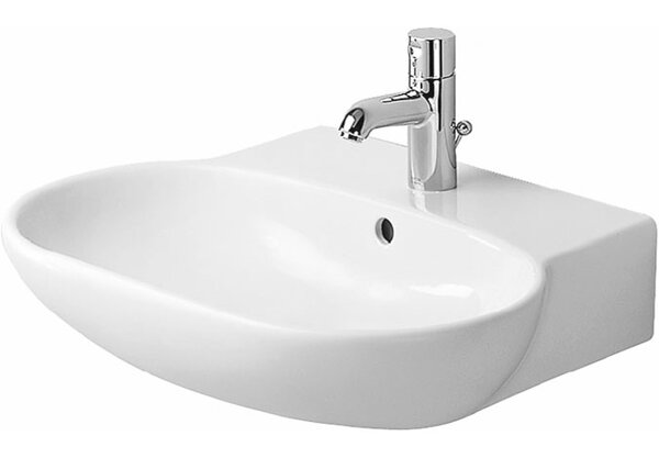 Foster Ceramic 24 Wall Mount Bathroom Sink with Overflow by Duravit