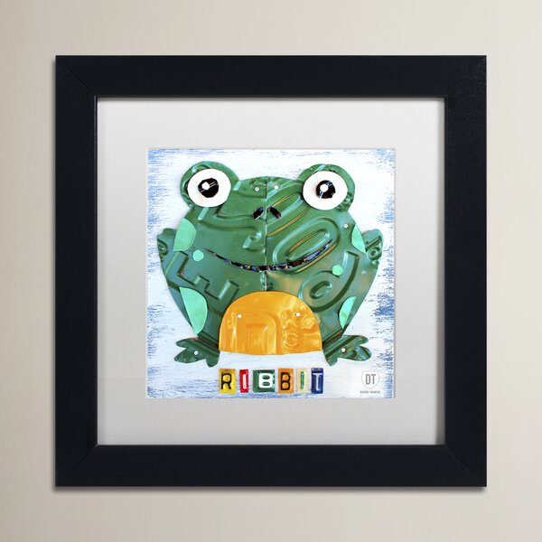 Verna Ribbit The Frog by Design Turnpike Black Framed Art by Zoomie Kids