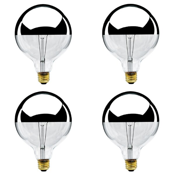 100W E26 Dimmable Incandescent Globe Light Bulb (Set of 4) by Bulbrite Industries
