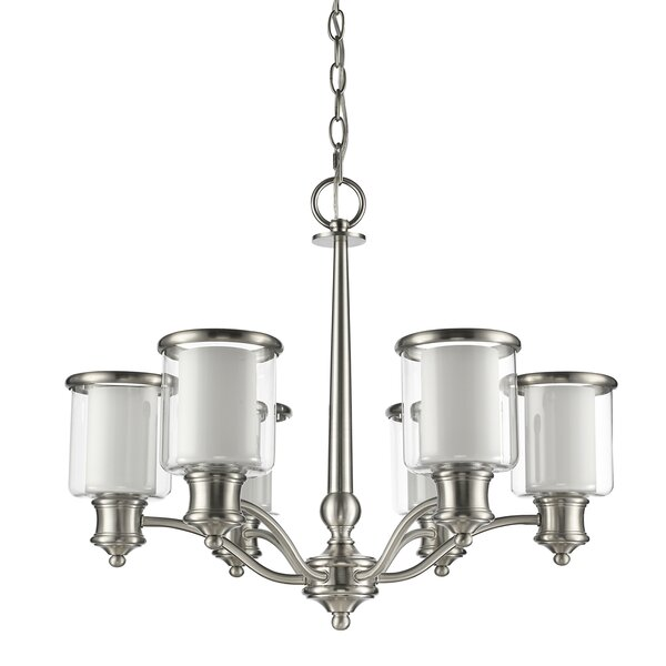 Mcduffy 6 - Light Shaded Classic / Traditional Chandelier by Ebern Designs Ebern Designs