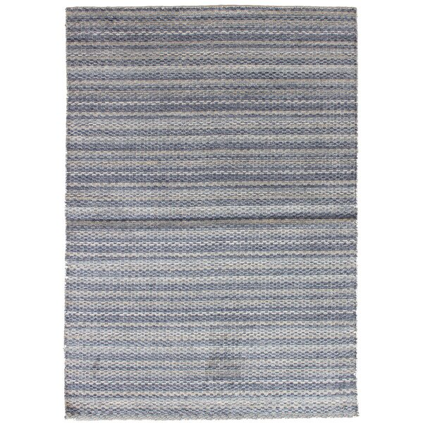 One-of-a-Kind Groom Hand-Knotted Silk Gray Area Rug by Isabelline