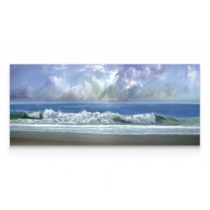 'Watching the Clouds' Oil Painting Print on Wrapped Canvas by Breakwater Bay
