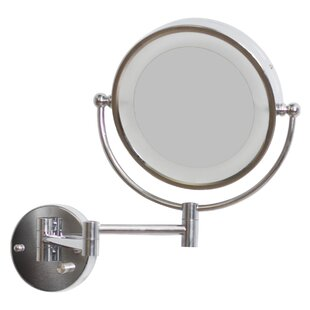 Reviews Round Brass-LED Wall Mount Magnifying Wall Mirror ByRoyal Purple Bath Kitchen