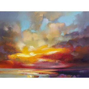 'Scattered Rays' by Scott Naismith Painting Print on Wrapped Canvas by Hobbitholeco.