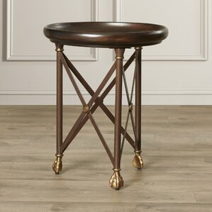 Lewiston Round X End Table by Darby Home Co