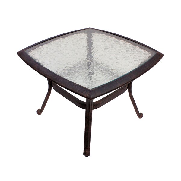 Massimo Glass Bistro Table by Winston Porter